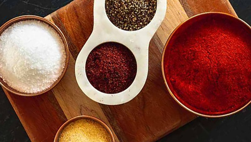 mixed spices for homemade seasoning