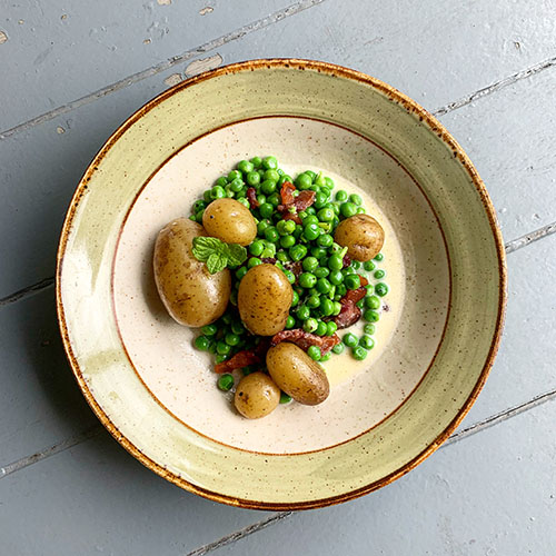 potatoes peas and bacon reicpe